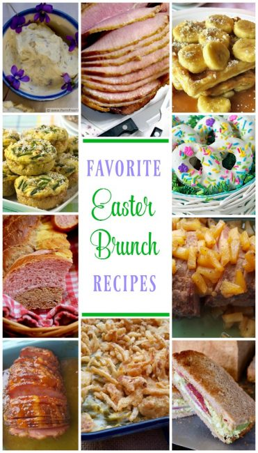 Favorite Easter Brunch Recipes (photo collage)