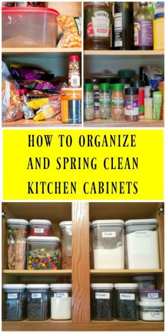 Best tips for spring cleaning kitchen cabinets and kitchen appliances. | ItsYummi.com
