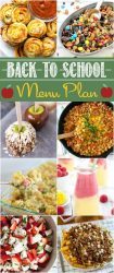 This kid-friendly #backtoschool meal plan has easy back to school #recipes that kids love and the meals are quick and easy to prepare.