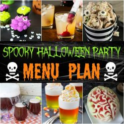 Halloween party recipes are the start of a fun Halloween celebration. Use these spooky, fun, and tasty Halloween party recipes and menu plan for inspiration!