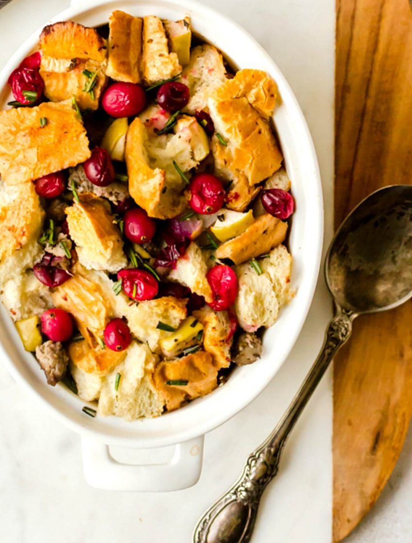 Cranberry Sausage Stuffing or Dressing