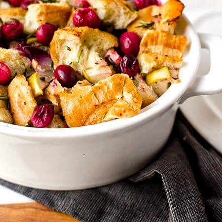 My Favorite Cranberry Sausage Stuffing (or Dressing)