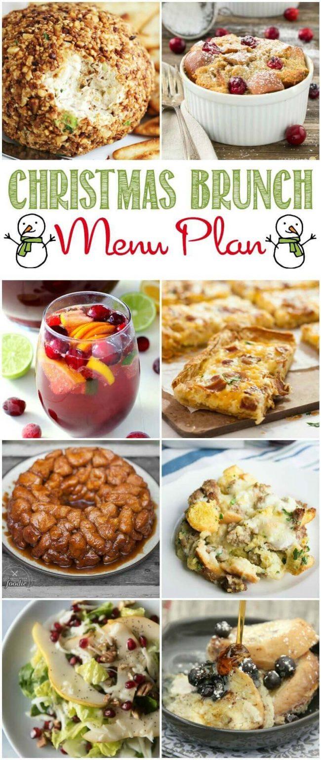 Easy Christmas Brunch Recipes and Menu Plan