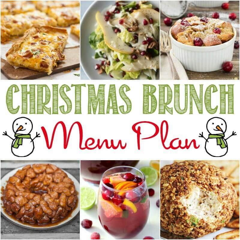 easy christmas brunch recipes and menu plan