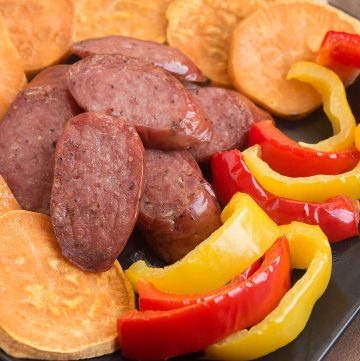 Garlic Smoked Sausage Sheet Pan Dinner