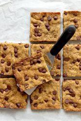 Low Carb Brown Butter Blondies - a healthier dessert made with browned butter, almond flour, and Erythritol