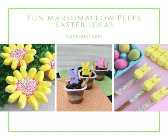 Easter marshmallow Peeps ideas photo collage