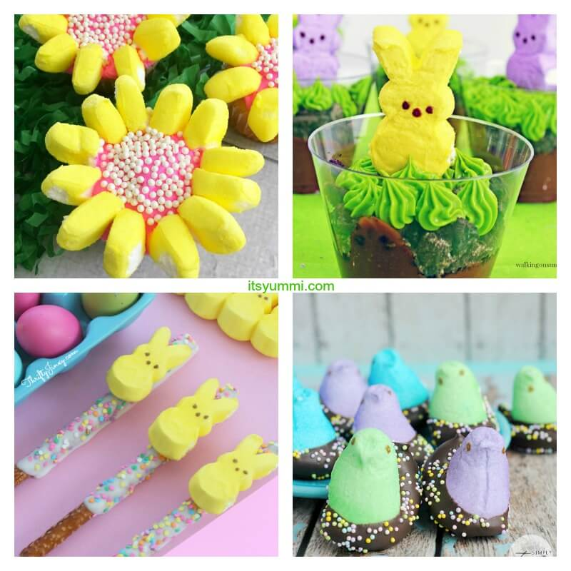 Adorable Marshmallow Peeps Easter Treats and Table Decor