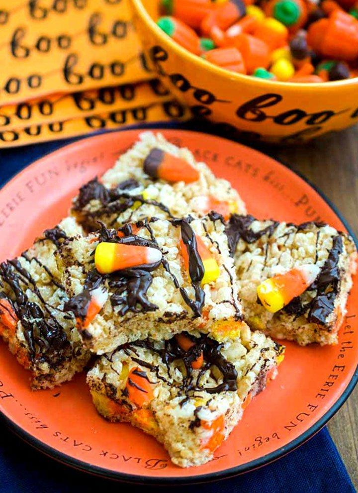 chocolate rice crispy treats - featured