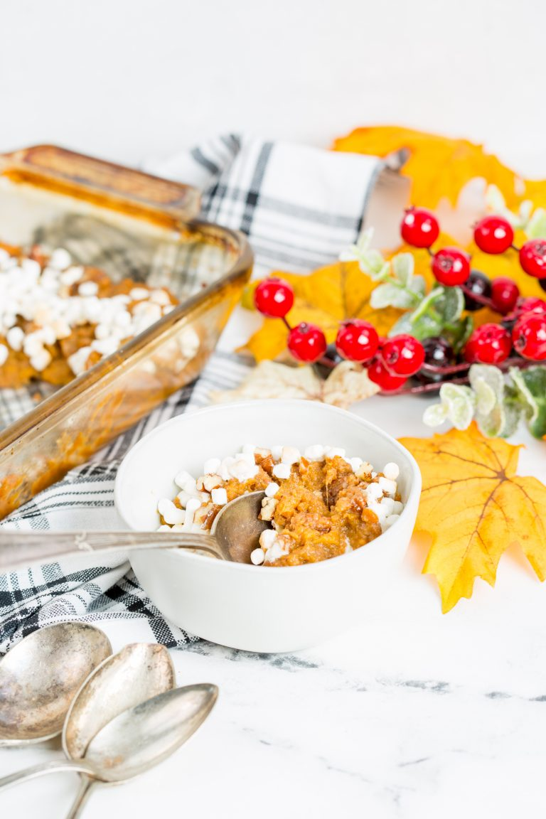 Canned Sweet Potato Casserole with Marshmallows