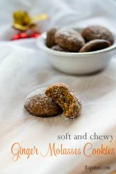 titled image (and shown): soft and chewy ginger molasses cookies