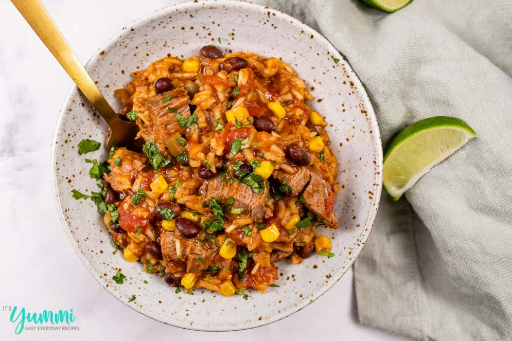 Instant Pot Spanish Rice with Beef Sirloin or Flank Steak