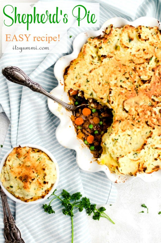 titled image - easy shepherd's pie with lamb