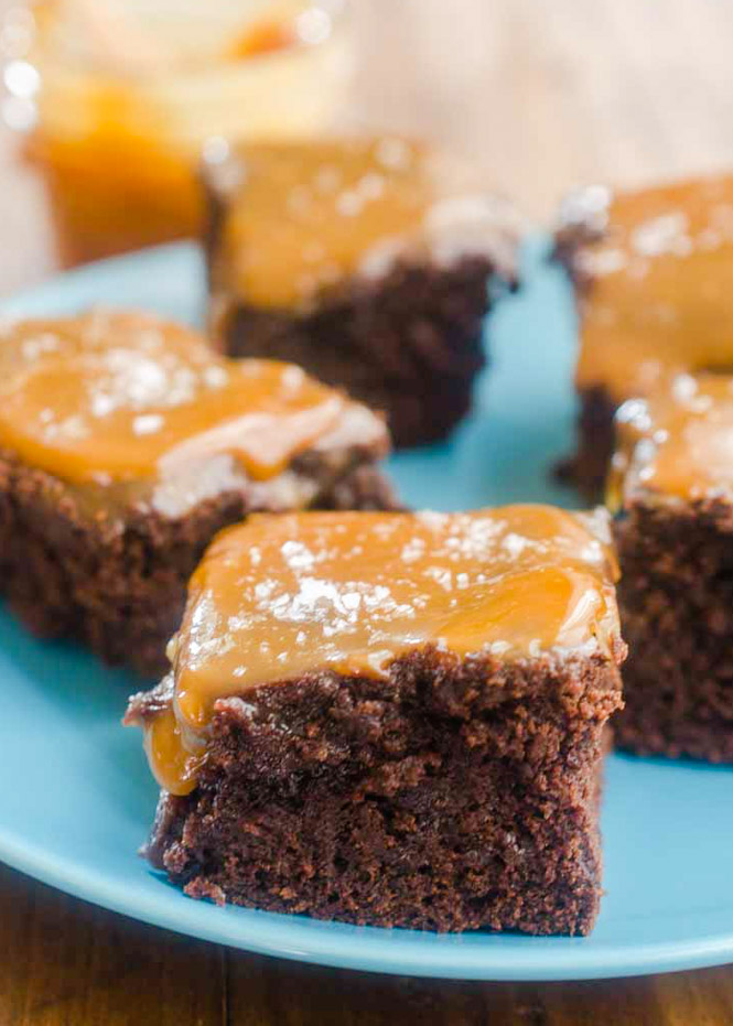 Salted Caramel Brownies from Scratch