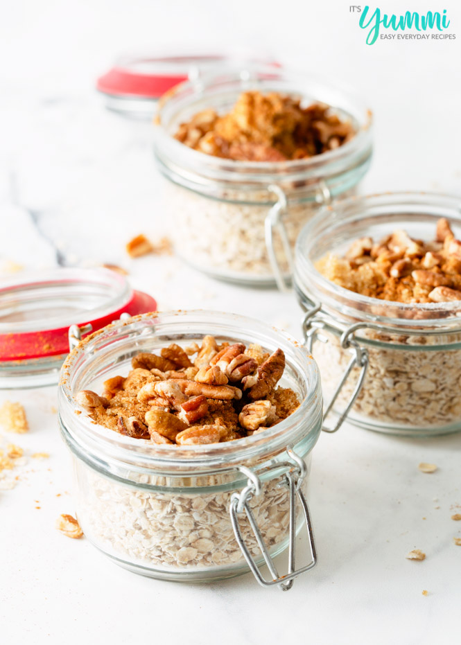 Maple Brown Sugar Oatmeal (Meal Prep Oatmeal)