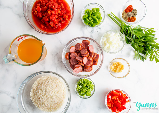 ingredients needed for jambalaya
