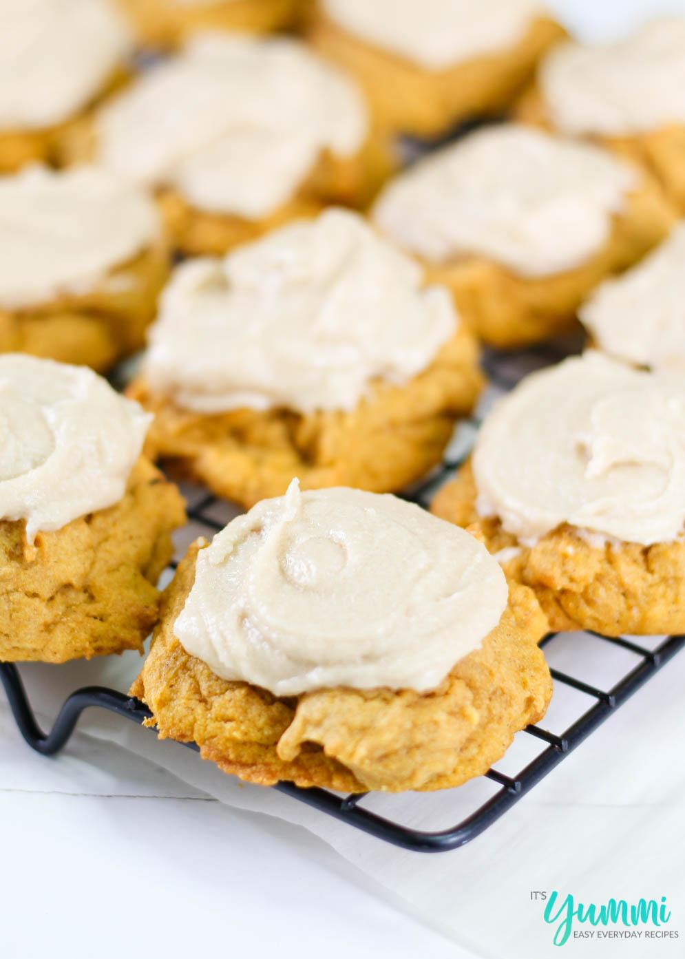 Pumpkin Cookies with Brown Sugar Frosting
