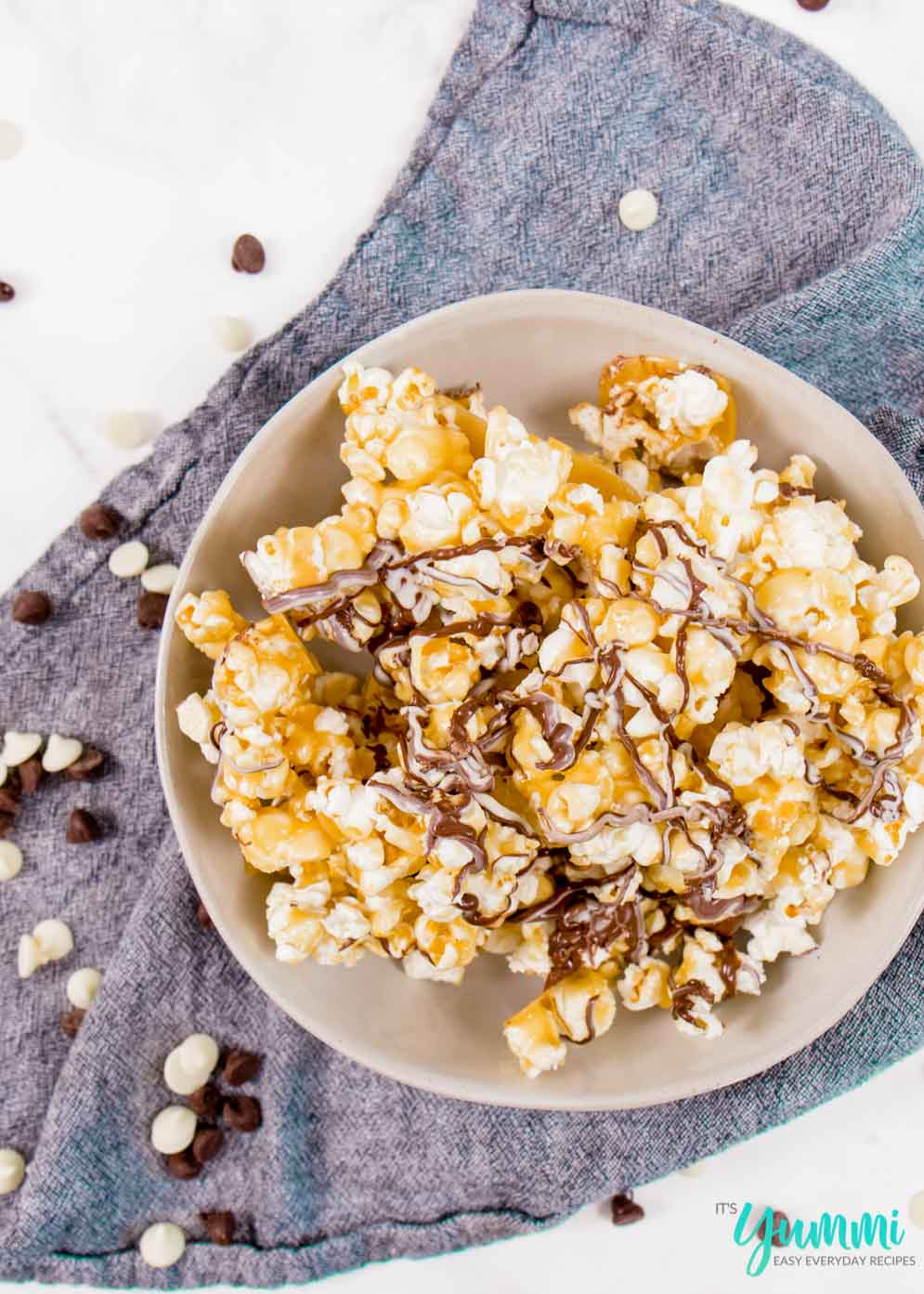 Homemade Caramel Corn with Chocolate